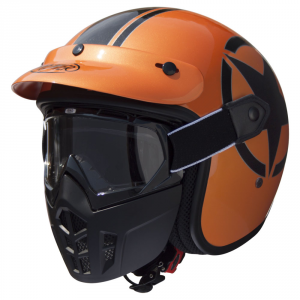 PREMIER MASK STAR METALLIC Casco jet - Arancione