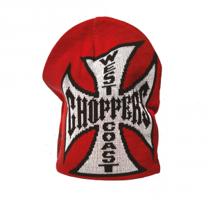 Cappellino beanie West Coast Choppers JJ Reversible Nero Rosso