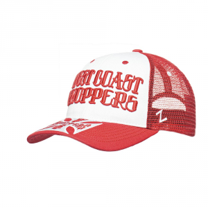 Cappellino West Coast Choppers Clutch Logo Rosso Bianco