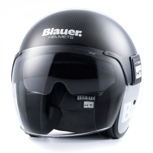 BLAUER POD Jet Helmet - Carbon Black and Grey
