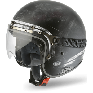 AIROH GARAGE RAW Jet Helmet - Matt Black