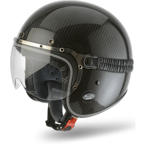 AIROH GARAGE CARBON Jet Helmet - Gloss Black