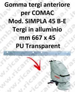 Gomma tergipavimento anteriore per lavapavimenti COMAC SIMPLA 45 B-E