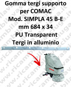 Gomma tergipavimento supporto per lavapavimenti COMAC SIMPLA 45 B-E