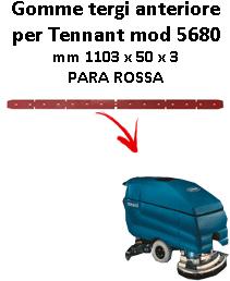 7100 GOMMA TERGI posteriore PARA rossa per lavapavimenti TENNANT - squeegee 800 mm