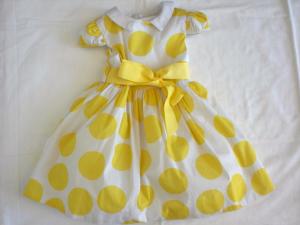 Vestito neonata con stampa a pois tg 12 e 18 mesi