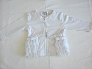 Felpa bianca neonata tg 9 mesi