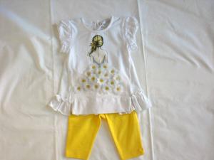 Completo maglietta e pantalone neonata tg 9 mesi