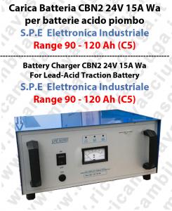 CBN2 24V 15A Wa per batterie acido piombo Range 90 - 120 Ah (C5) - S.P.E