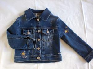 Giacca jeans con macchia oro