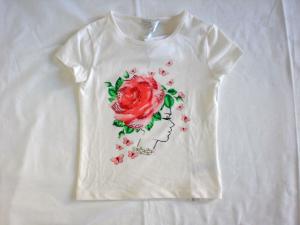 Maglia stampa rose bambina