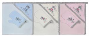ZEBRA - asciugamano con cappuccio + guanto - neonato (90 x 90)