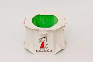 TRON - vasino monouso pieghevole, biodegradabile, da viaggio !