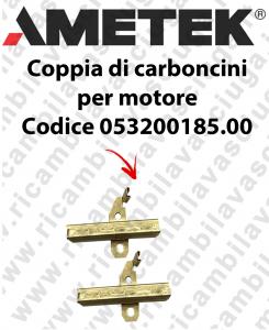COPPIA di Carboncini Motore aspirazione per motore Ametek 064200001.00 2 x Cod: 053200185.00