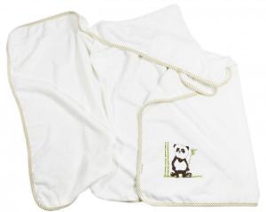 PANDA - telo bagno con cappuccio - 100 % Bamboo - (140 x 70)