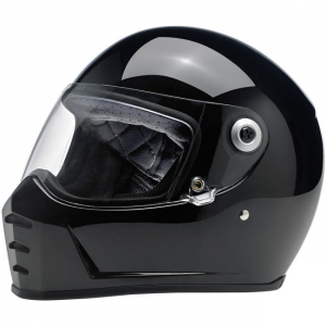 BILTWELL LANE SPLITTER GLOSS BLACK Full Face Helmet - Black