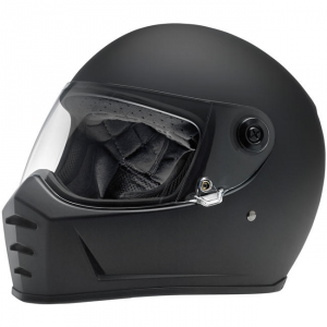 BILTWELL LANE SPLITTER FLAT BLACK Casco Integrale - Nero Opaco
