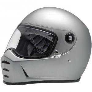BILTWELL LANE SPLITTER FLAT SILVER Full Face Helmet - Silver