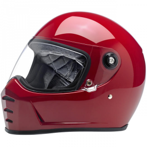 BILTWELL LANE SPLITTER GLOSS BLOOD RED Full Face Helmet - Red