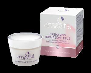 CREMA VISO IDRATAZIONE PLUS AMAVITAL  per pelli da normali a secche con ginseng siberiano, echinacea e acido ialuronico