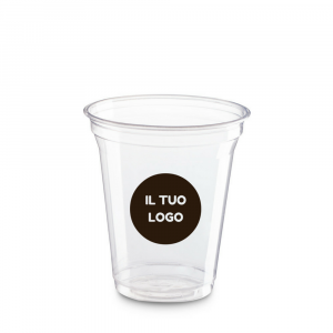 Bicchieri biodegradabili trasparenti personalizzati 300ml