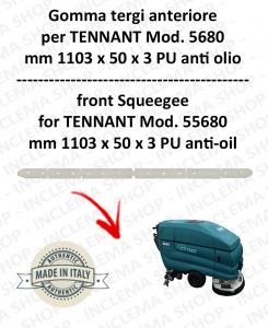 5680 GOMMA TERGI anteriore PU anti olio per lavapavimenti TENNANT - squeegee 800 mm