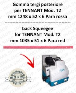 7200 GOMMA TERGI posteriore PARA rossa per lavapavimenti TENNANT - squeegee 900 mm