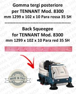 8300 GOMMA TERGI posteriore PARA rossa per lavapavimenti TENNANT - 1000 mm
