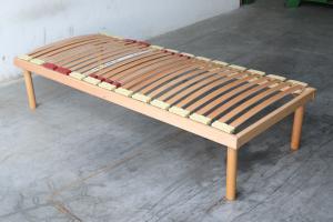 Rete legno con regolatori di rigidt\u00e0 100% Legno di Faggio 80x190   Alba