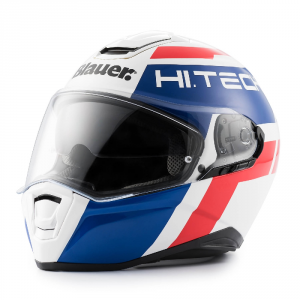 BLAUER FORCE ONE 800 Full Face Helmet - White - Blue and Red