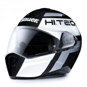 BLAUER FORCE ONE 800 Full Face Helmet - Matt Black - White and Grey Anthracite