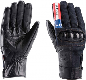 BLAUER COMBO CARBON DENIM USA Motorcycle Gloves - Black