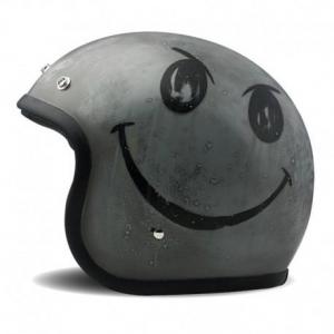 DMD VINTAGE SMILE HANDMADE Jet Helmet - Grey