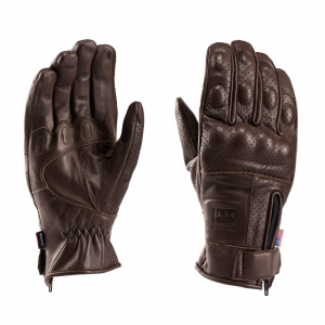 BLAUER COMBO Motorcycle Gloves - Brown
