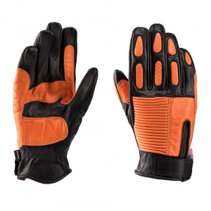 BLAUER BANNER Motorcycle Gloves - Black and Orange