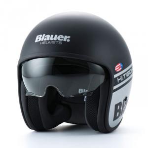 BLAUER PILOT 1.1 Jet Helmet - Grey and Matt Black