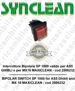 Interruttore Bipolare SP1000 valido per AS5 GHIBLI e MX 5 MAXICLEAN cod: 2506232