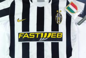 2003-04 Juventus Maglia Home Ragazzo *Cartellino e Confezione