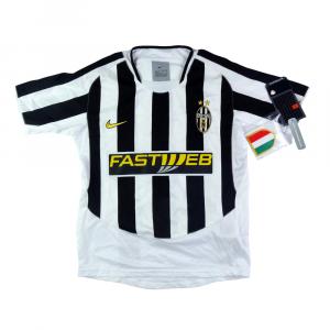2003-04 Juventus Maglia Home Ragazzo *Cartellino