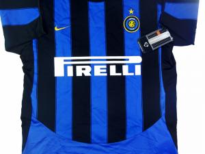 2003-04 Inter Maglia Home Ragazzo *Cartellino