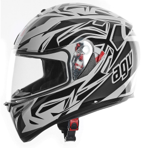 CASCO MOTO AGV INTEGRALE K-3 MULTI ROOKIE WHITE GUNMETAL BLACK