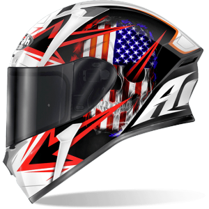CASCO MOTO INTEGRALE AIROH VALOR SAM BLACK GLOSS VASM17