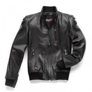 BLAUER INDIRECT Motorcycle Leather Jacket - Black