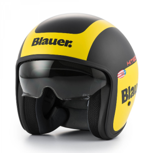 BLAUER PILOT 1.1 Jet Helmet - Black and Yellow