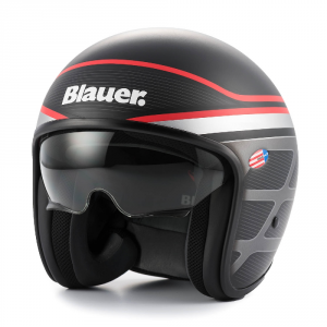 BLAUER PILOT 1.1 Jet Helmet - Black and Grey