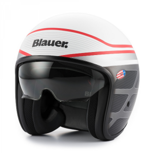 BLAUER PILOT 1.1 Jet Helmet - White and Black