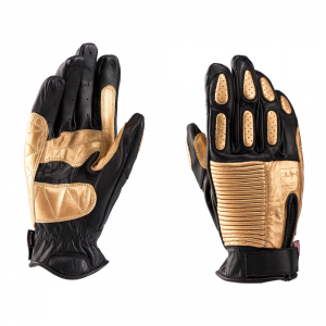 BLAUER BANNER Motorcycle Gloves - Black and Gold