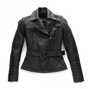 BLAUER TRINITY Woman Motorcycle Leather Jacket - Black