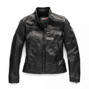 BLAUER NEO Motorcycle Leather Jacket - Black