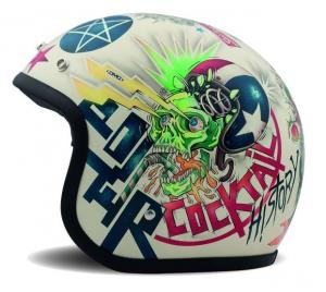 DMD VINTAGE VISION Jet Helmet - Multicolor